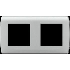 "Plaque ""silver"" 2 postes - 61988 - EUROHM | GENMA"