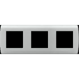 "Plaque ""silver"" 3 postes - 61989 - EUROHM | GENMA"