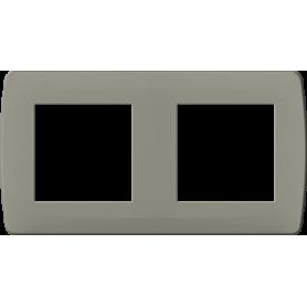 Plaque taupe 2 postes - 61991 - EUROHM | GENMA