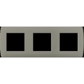 Plaque taupe 3 postes - 61992 - EUROHM | GENMA
