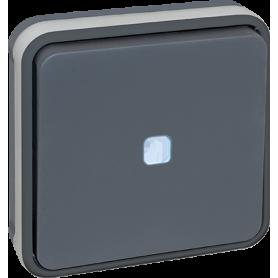 OXXO VV lumineux GRIS ENCASTRE IP55 - 60881 - EUROHM | GENMA