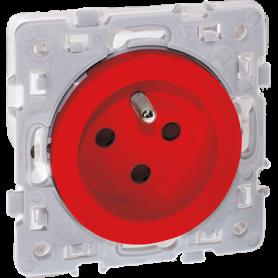 SQUARE RENO PC 2P+T rouge détrompée - 60562 - EUROHM | GENMA