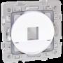 SQUARE RENO plastron RJ45 format KEYSTONE BLC - 60578 - EUROHM | GENMA