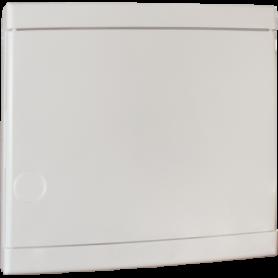 Porte pour coffret 13 modules blanche (rajout serrure possible) - 19084 - EUROHM | GENMA