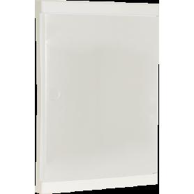 Porte pour coffret 26 modules blanche (rajout serrure possible) - 19086 - EUROHM | GENMA