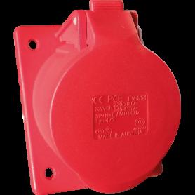 Socle 3P+N+T 32A rouge 400V CEI 309 - 19218 - EUROHM | GENMA