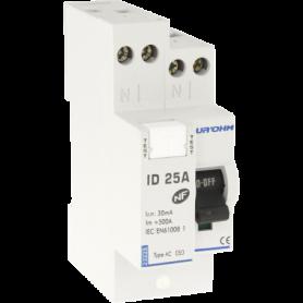 Interrupteur différentiel  25A 1P+N 30mA connexion haut/haut Classe AC - 23225 - EUROHM | GENMA