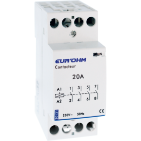 Contacteur 4P 20A  NO  - 30131 - EUROHM | GENMA