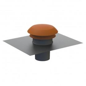Chapeau de toiture rond diam.160mm couleur tuile Atlantic - 422962