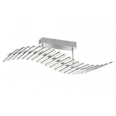 rail Plafonnier 1-x LED 60W chromé
