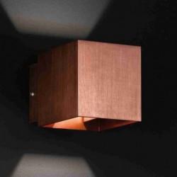 Box Applique 2-x LED 3W couleur cuivre. 10x10cm A.14cm