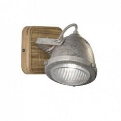 Old Applique 1-x GU10 Max 10W bois/zinc antique