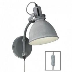 Kent Applique 1-x E27 max.40W couleur béton/gris A.32cm