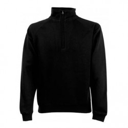 SWEAT COL ZIPPE EMBALLE NOIR