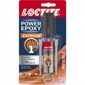 LOCTITE Colle Epoxy Express 1 min Invisible Seringue Nouvel artwork 11ml 2299731   GENMA