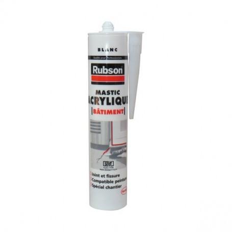 RUBSON Mastic Acrylique Bâtiment Blanc Cart 300ml 1719593 | GENMA