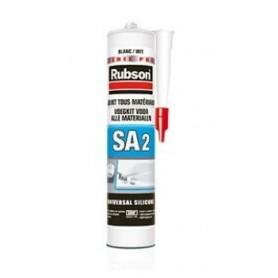 RUBSON Mastic SA2 Sanitaire Couleur Gris Foncé Tous supports Cart 280ml 2345012 | GENMA