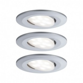 Encastré LED Calla rond 3x6,5W Chrome mat orientable