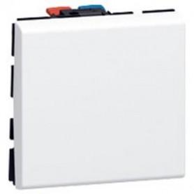 Mosaic Bouton poussoir blanc 6A 2 modules - LEGRAND - 077040L | GENMA
