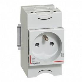 Prise de courant modulaire 10A à 16A 250V - 2P+T à éclips - 004280 - GENMA