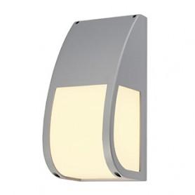KERAS ELT applique, gris argent, E27 éco. énergie, max. 25W, IP54