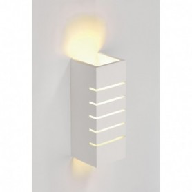 PLASTRA 100 SLOT, applique, carrée, plâtre blanc, E14, max. 11W