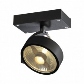 KALU 1, applique/plafonnier, noir, QPAR111 max. 75W