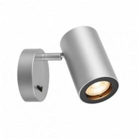 ENOLA_B, applique, gris argent/noir, QPAR51 max. 50W, avec interrupteur