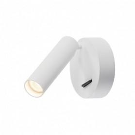 KARPO, applique plafonnier, rond, blanc, 7,5W LED, 3000K, avec interrupteur