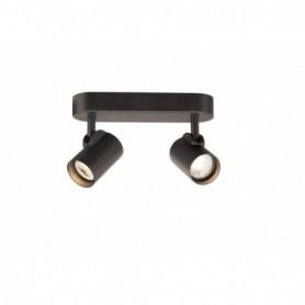 HELIA LED Double applique/plafonnier, noir, LED 18W 3000K, 35°