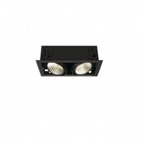 KIT KADUX 2 LED XL encastré carré, noir, 2x24W 3000K 30°, alim incluse