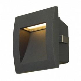 DOWNUNDER OUT LED S, encastré mural gris anthracite, LED 0.96W 3000K