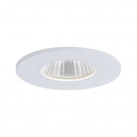 Spot encastré LED Calla rond 1x7W Blanc dépoli fixe