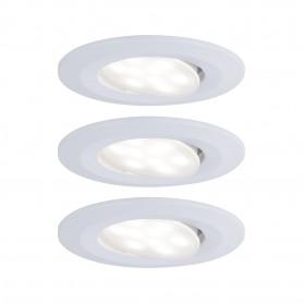 Spot encastré LED Calla rond 3x6,5W Blanc dépoli orientable