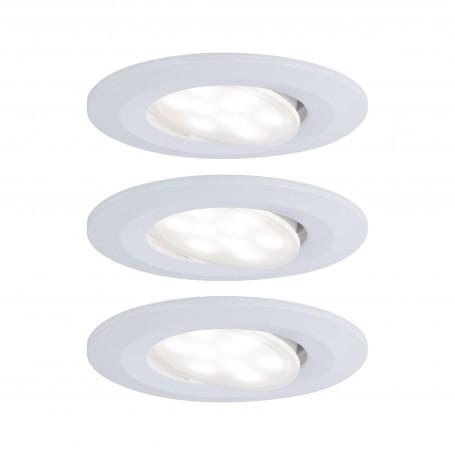 Spot encastré LED Calla rond 3x5,5W Blanc dépoli orientable Whiteswitch