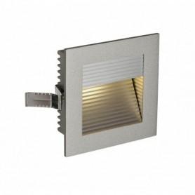 FRAME CURVE LED encastré, carré, gris argent, LED 3000K