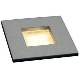MINI FRAME LED encastré, carré, gris argent, 0,23W, LED 3000K