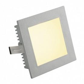 FLAT FRAME BASIC encastré, carré, gris argent, G4, max. 20W
