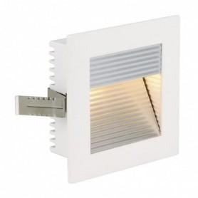 FLAT FRAME CURVE encastré, carré, blanc, G4, max. 20W