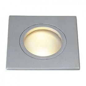 DOLIX OUT GU10 CARRE, encastré, gris argent, max. 35W