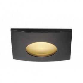 KIT OUT 65 LED CARRE, encastré, noir, 12W, 3000K, 38°, alim incluse