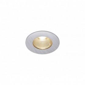 PATTA-I encastré plafond, rond, alu brossé, LED 7,3W 1800-3000K