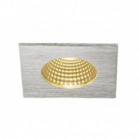 PATTA-I encastré plafond, carré, alu brossé, LED 7,3W 1800-3000K