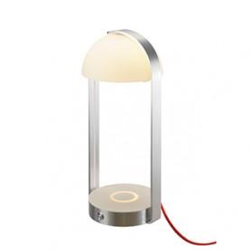BRENDA LED, lampe à poser, blanc/argent, chargement sans fil, 3000K