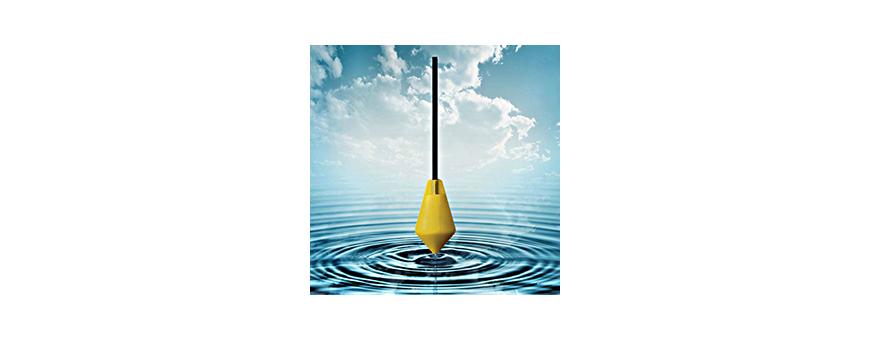 Interrupteurs de niveau biconiques, omnidirectionnels et lestés ou non sur les câbles